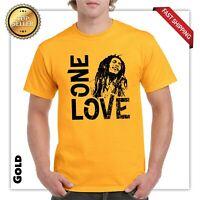 One Love Bob Marley T Shirt Jamaica Reggae Weed Rasta Graphic Smoke Street Wear