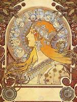 MUCHA ZODIAC 1896 OLD MASTER ART PAINTING PRINT 12x16 inch POSTER REPRO 127OM