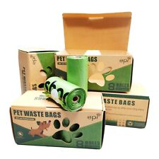 Biodegradable Compostable Dog Poop Waste Bags 120 Counts Unscented 8 Rolls �����