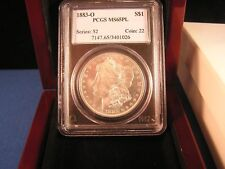 1883-O MORGAN SILVER DOLLAR P.C.G.S. MS 65  MORROR PROOF LIKE