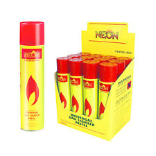 12 cans Neon Butane Ultra Premium Refined Universal Refill Lighter Cans 300 mL