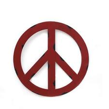 Metal Treasured Red Peace Sign Wall Hanging Ornament Home Door Decorative Sign