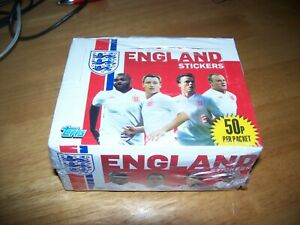 Merlin/Topps England Euro 2012Complete sealed box of 50 Packs of stickers