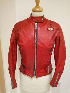 Lewis Leathers Aviakit Ladies Red Motorcycle Jacket 34 Bust