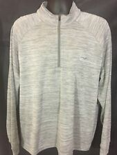 Men's XL Greg Norman 1/4 Zip Pullover Sweater Jacket Grey
