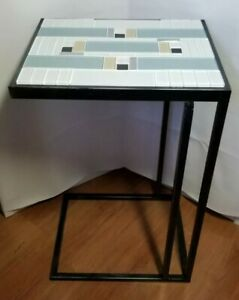 """Custom Made DECO Styled Occassional Accent """"C"""" Table"""
