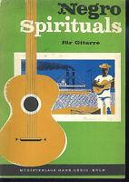 Negro Spirituals für Gitarre