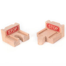 1 Set Wooden Train Stop Track Railway Accessories Compatible All Major Brands 7H