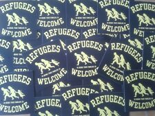1000 refugees welcome autocollant stickers punk antinazi AFA contre nazis antifa
