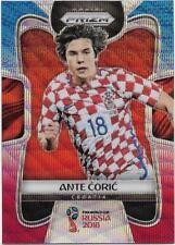 2018 Panini FIFA World Cup Blue Red Wave Prizm (225) Ante CORIC Croatia
