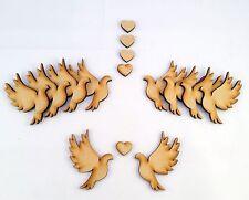 MDF Wooden Wedding/Valentine's Day Love Bird Craft Shapes,Embellishments, Blanks
