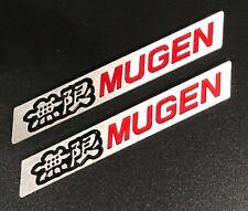 3D MUGEN Car Trunk Fender Lip Emblem Badge Sticker Decal Alumnium Black/Red x2
