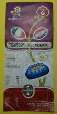 UEFA euro 2012 match 6 Irlanda Billete De Croacia