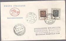 ITALIA BUSTA FDC CAVALLINO 1959 100° FRANCOBOLLO ROMAGNE  ANNULLO BOLOGNA
