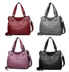 Women Genuine Cowhide Real Leather Handbag Shoulder Bag Tote Bags Shopping Purse