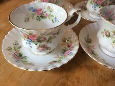 Royal Albert  MOSS ROES TEA CUP AND SAUCER ENGLAND