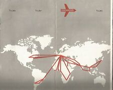 Brochure Swissair Airlines w 7 Maps Of Route