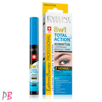 Eveline 8in1 Eyebrow Corrector With Henna Gradually Changing Colour 10ml