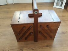 VINTAGE  CONSERTINA SOLID WOOD SOWING BOX 48 X 42 X 25cm