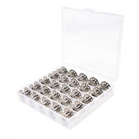 25Pcs löschen leeren Nähmaschinenspulen-Spulen-Metallkasten mit Aufbewahrungs I1