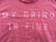 "Vtg STARBUCKS RESERVE PALMER CASH T-SHIRT MEDIUM ""My Grind Is Fine"" Tri-Blend"
