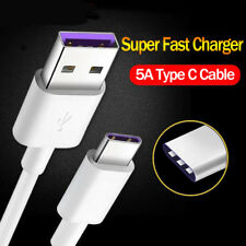 1-2m 5A Type C Super Fast Charger Sync&Charging Data Cable Cord for Huawei P20 +