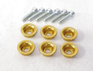 Ducati scodellini premi molla oro - spring caps with screws gold