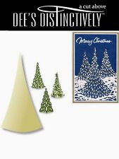 "DEE'S DISTINCTIVELY DIES - ""TREE SILHOUETTE"" IME021 MERRY CHRISTMAS/HOLIDAY/CARD"