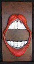 """Original art - """"Big Mouth"""" - mixed-media 3-D"""