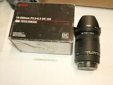 18-250mm F3.5-6.3 Sigma DC OS SLD zoom lens NEW  for Sigma AF cameras