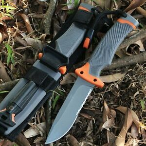 Gerber Strong Fixed Blade Gray Knife Tactical Outdoor Survival Hunting camping