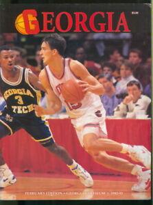 1991-92 Georgia Bulldogs Basketball Official Program: Kendall Rhine on Cover
