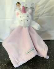 Blankets And Beyond  Unicorn Lovey Security Blanket Pink White NEW