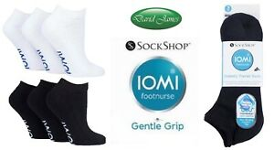 3 Pairs IOMI SockShop Diabetic TRAINER Socks Extra Wide Non-Binding Cushion Foot