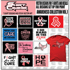 AWARENESS VOL1  -VECTOR CLIPART- SCREEN PRINT/ VINYL CUTTER/ EPS TSHIRT DESIGNS