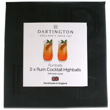 Dartington Crystal Rumballs Rum Cocktail Highball Glasses - Boxed - TU3408/P