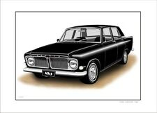 FORD ZEPHYR MK3  MKIII  LIMITED EDITION CAR DRAWING PRINT  (10 CAR COLOURS)