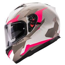 Matte Pink Full Face Motorcycle Helmets Double Visor DOT
