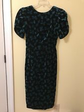 Vintage LANZ Cotton Velvet Bow Cocktail Party Dress Christmas Size small 4, 6, 8
