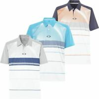 OAKLEY GOLF MENS AERO MOTION BLOCK MOISTURE WICKING GOLF POLO SHIRT