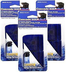 Penn Plax Cascade 300 Filter with Internal Replacement Cartridge, 6 Total Car...