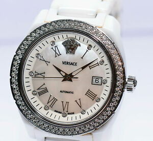 Versace Ceramic Diamonds Brillant 01ACS1 Papiere Box