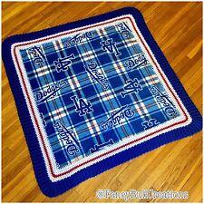 LA Dodgers Baby Blanket Fleece Crochet Handmade Baby shower Gift Baseball