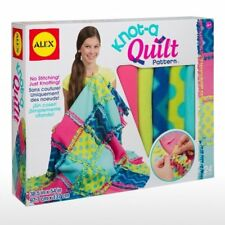 Kids Throw Blanket Project Kit Knot A Quilt Art Craft Pre Cut Fleece Square New