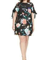 Adrianna Papell Tie Sleeve Floral Shift Dress Size 8