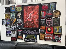 More details for bundle of 36 metal patches - tool iron maiden anthrax slayer cinderella accept