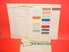 1957 MERCURY TURNPIKE CRUISER MONTEREY MONTCLAIR CONVERTIBLE PAINT CHIPS +
