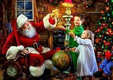 Santa Scene Father Christmas Wall Art Print Pic Photo Poster  A4