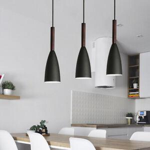 3X Black Pendant Light Modern Ceiling Lamp Room Chandelier Lighting Home Lights