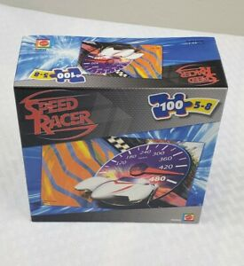 Speed Racer 100 Piece Jigsaw Puzzle Mattel Ages 5-8 NEW- ships free
